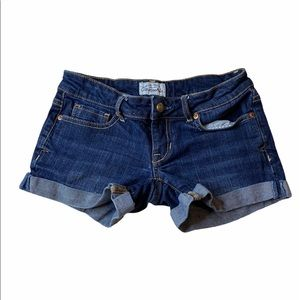Aéropostale Denim Cuffed Jean Shorts 00
